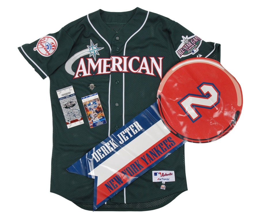 Derek Jeter Collection with 2001 All Star Game Jersey