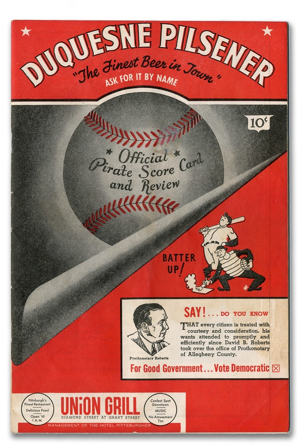 Honus Wagner Signed Pittsburgh Pirates Program