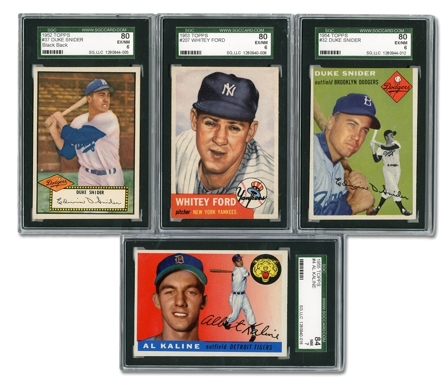 SGC Graded Star Card Collection (4)