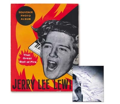 1956 Jerry Lee Lewis Signed Concert Program (8.5x10.75