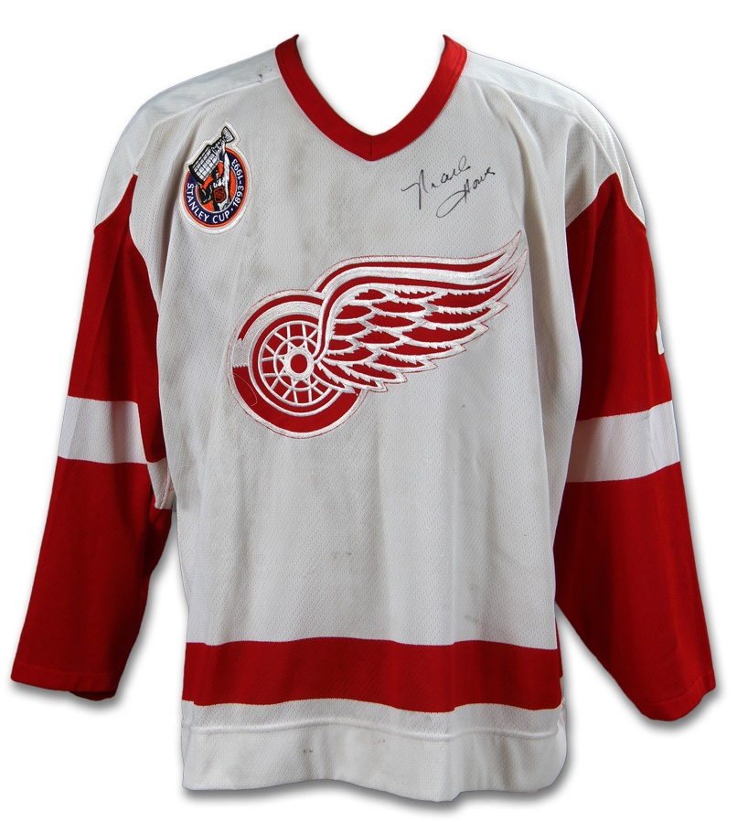 1992-93 Mark Howe Detroit Red Wings Game Worn Jersey