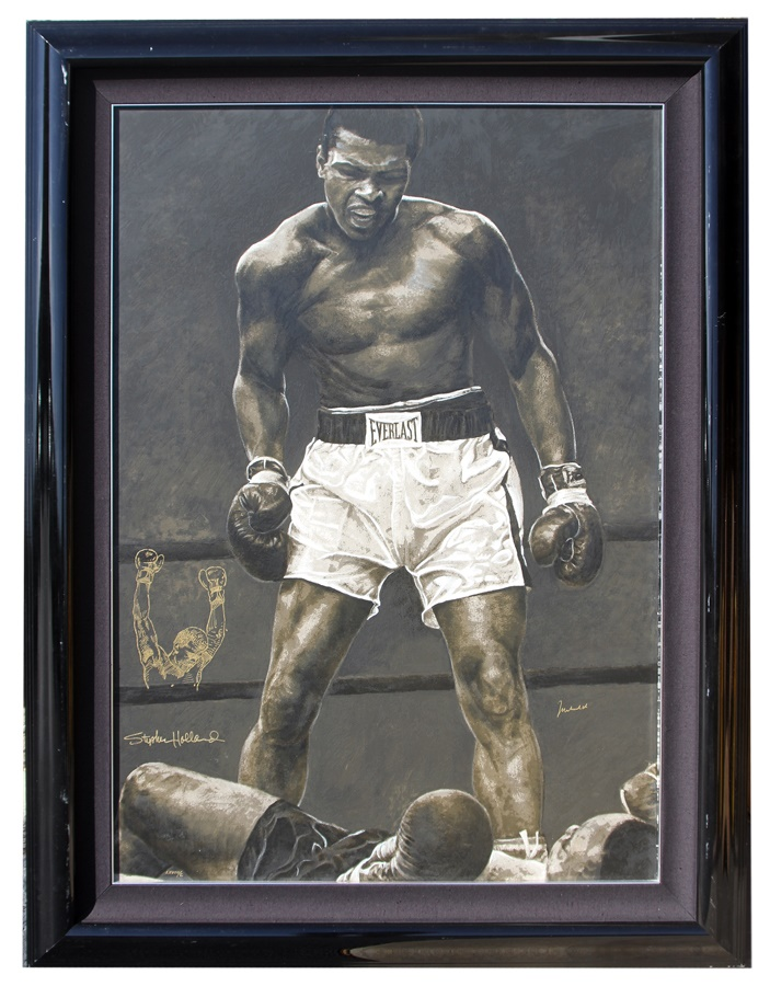 Muhammad Ali Signed Limited Edition Giclee by Stephen Holland