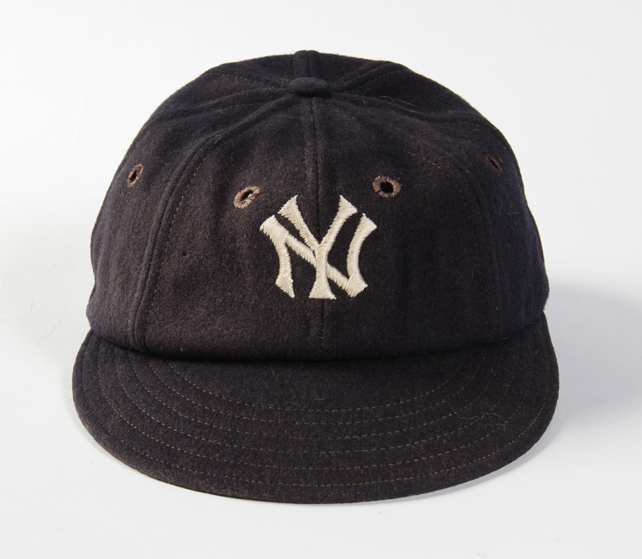 Circa 1923 Oscar Roettger New York Yankees Game Worn Cap