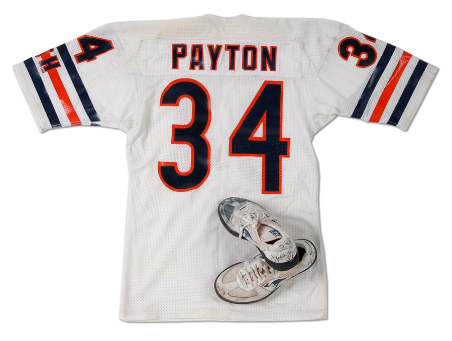 Mid-1980s Walter Payton Game Used Jersey & Cleats