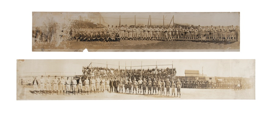 1920 Boston Braves & 1917 Chicago Cubs Panoramic Photos (2)