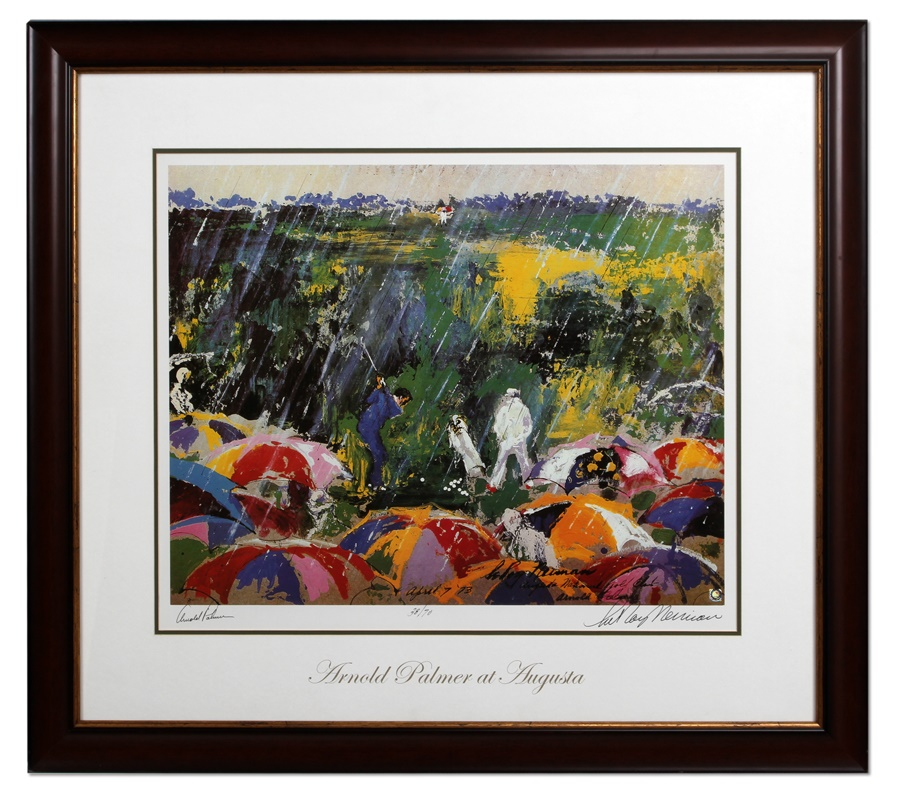Arnold Palmer Signed Print By LeRoy Neiman