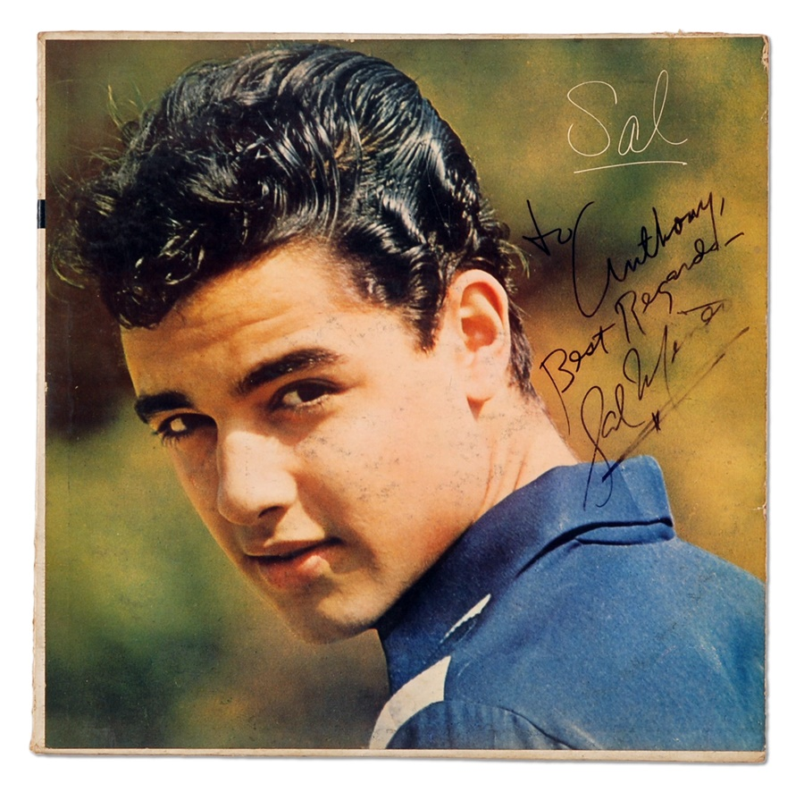Sal Mineo Signed Album Cover