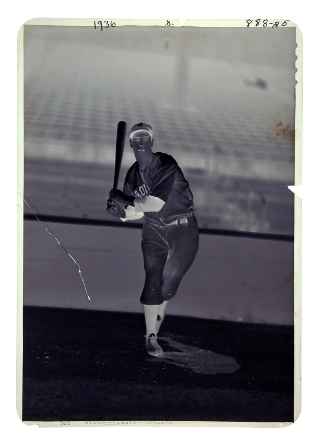 Joe DiMaggio Original Negative by George Burke