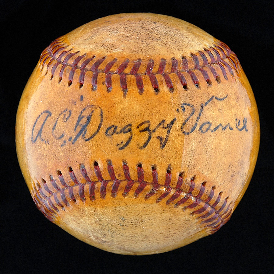 Dazzy Vance Single Signed Baseball