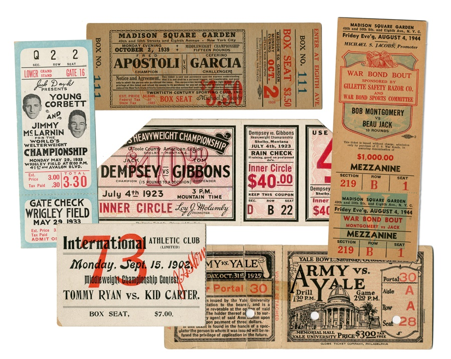 Boxing Ticket Collection of Six