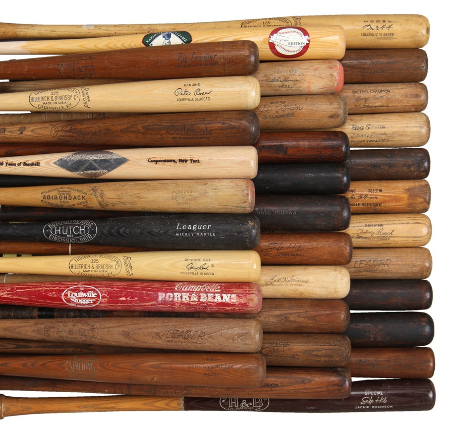 Massive Vintage Baseball Bat Collection (55+)
