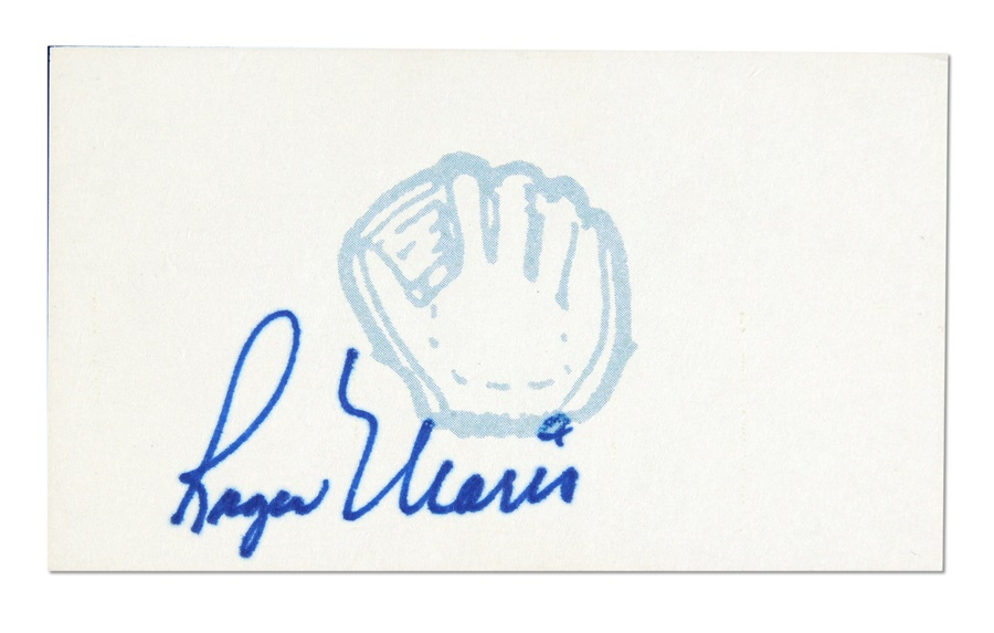 Roger Maris Signed Card