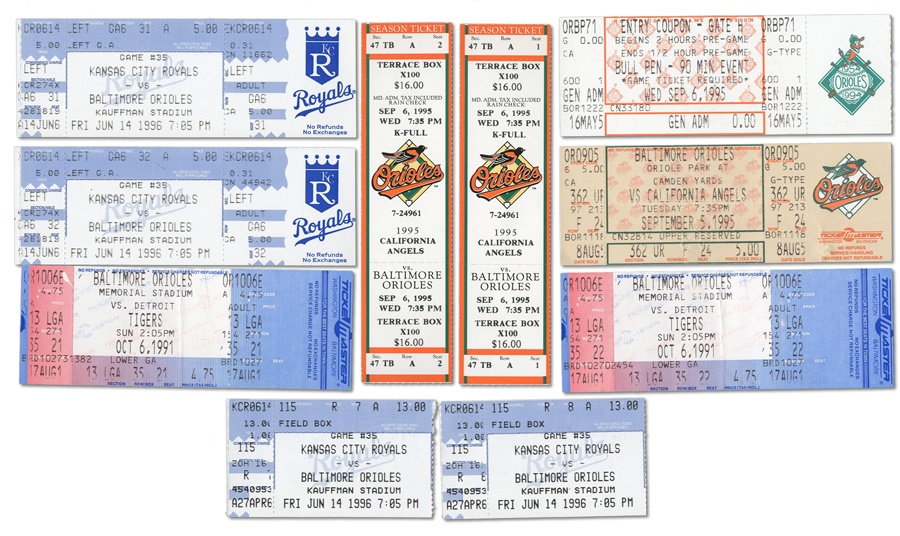 Important Orioles & Ripken Game Tickets