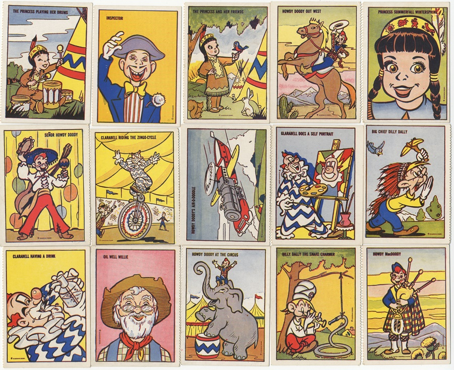 1951 Howdy Doody Magic Trading Cards by Burry's Complete Set of 42