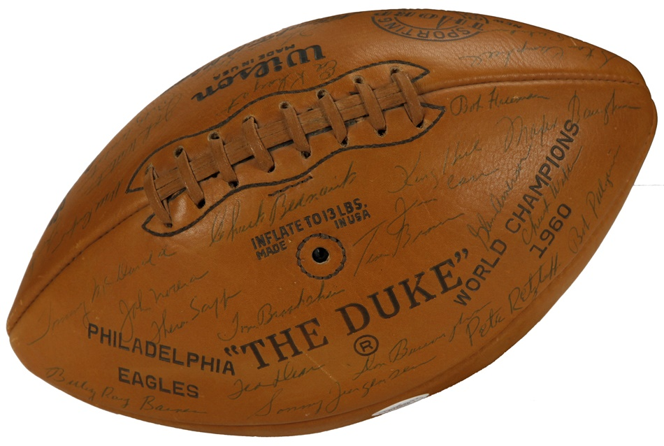 1960 World Champion Philadelphia Eagles Team Signed Football