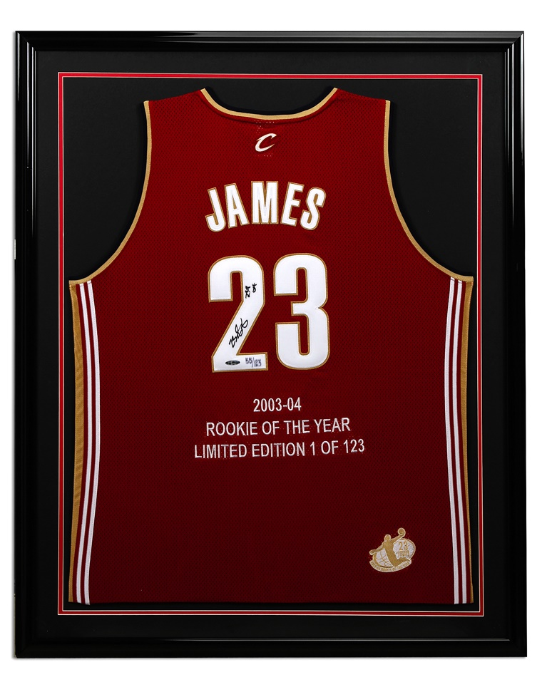 LeBron James Signed Rookie of the Year Jersey (UDA)