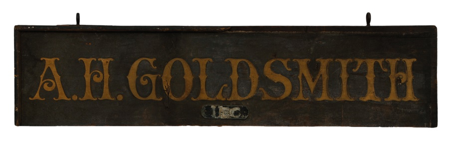 A.H. Goldsmith Hand-Painted Wooden Sign