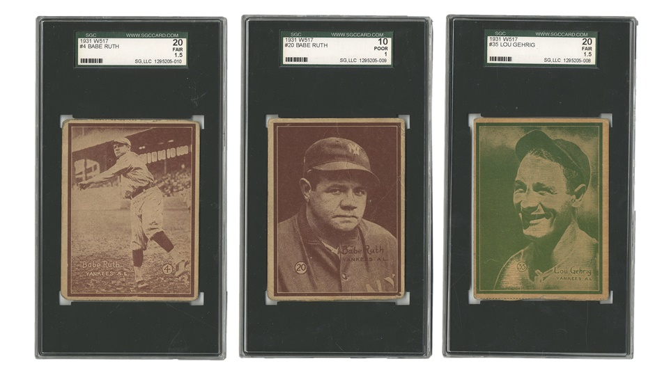 W517 Collection Including Ruths and Gehrig (36)