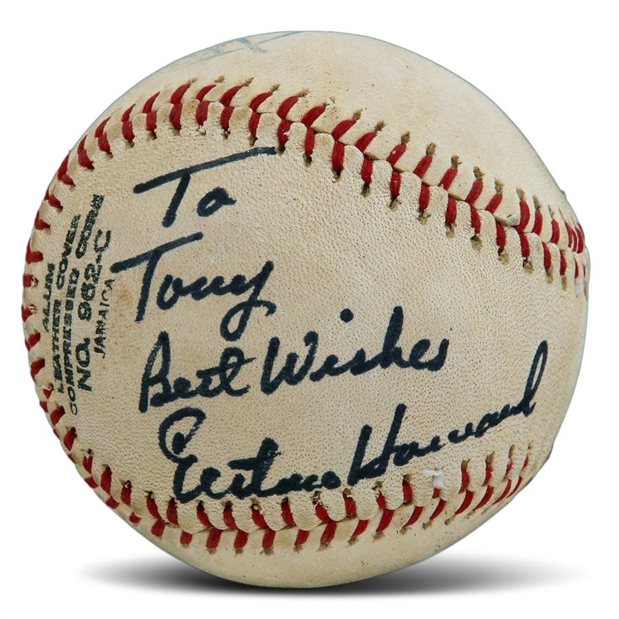 Elston Howard Single-Signed Baseball