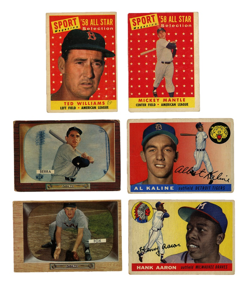 1950's Shoebox Baseball Card Collection (250)