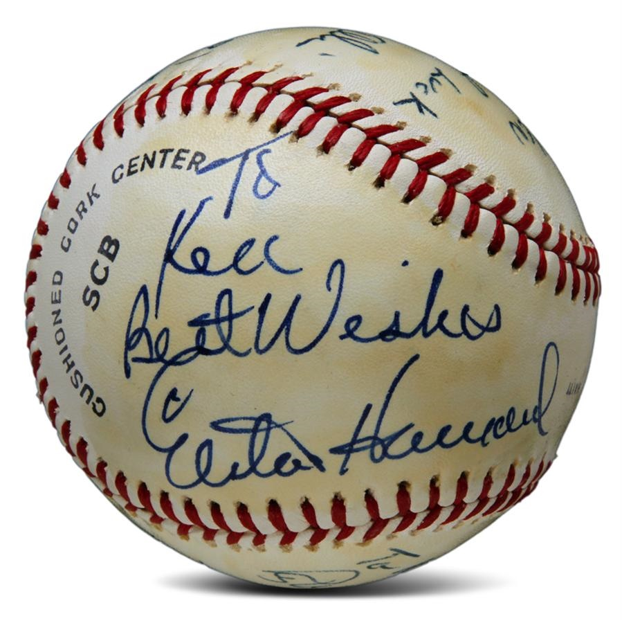Elston Howard Signed Baseball