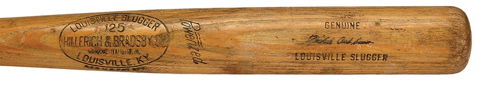 1957 Richie Ashburn Game used Bat