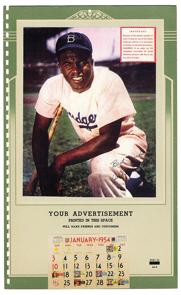 Jackie Robinson & Brooklyn Dodgers - Spring 2013 Catalog Auction