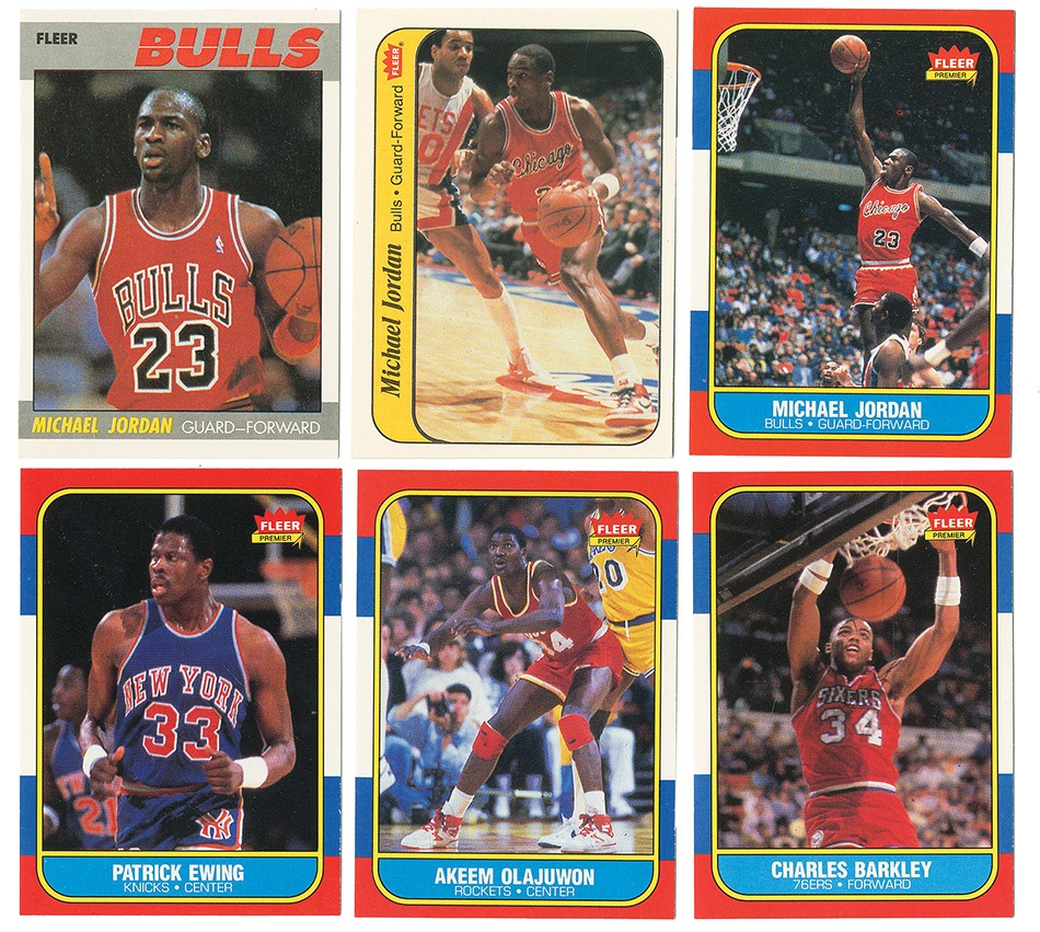 1986-87 Fleer BasketBall Set Collection With Stickers (2)