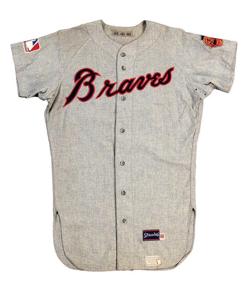 Hank Aaron 1969 Atlanta Braves Game Used Jersey