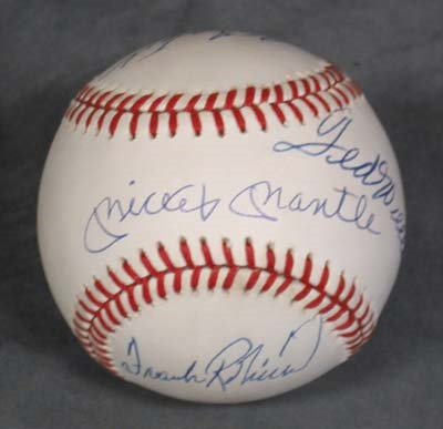 Triple Crown Winners Signed Baseball