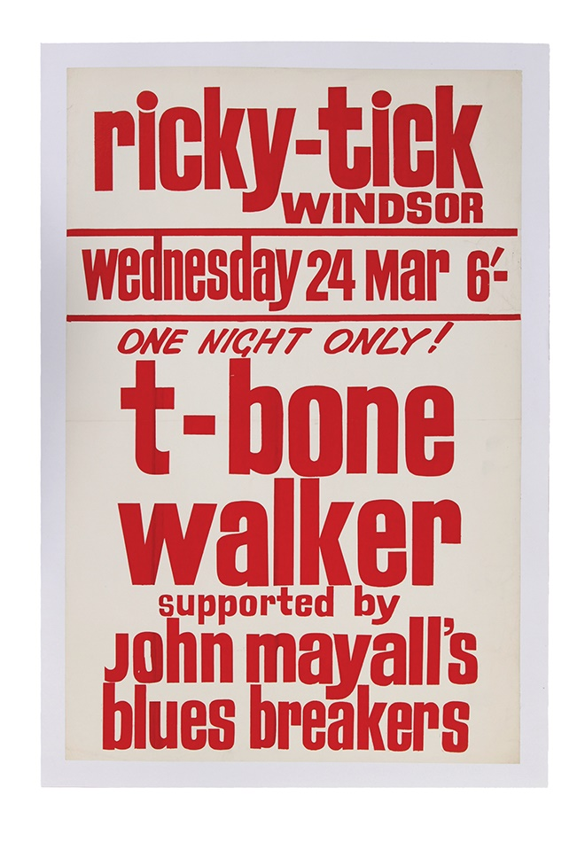 1961 T-bone Walker Ricky-Tick Club Poster