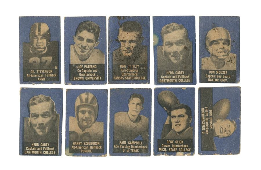 1950 Topps Felt Backs Collection Including Joe Paterno (10)