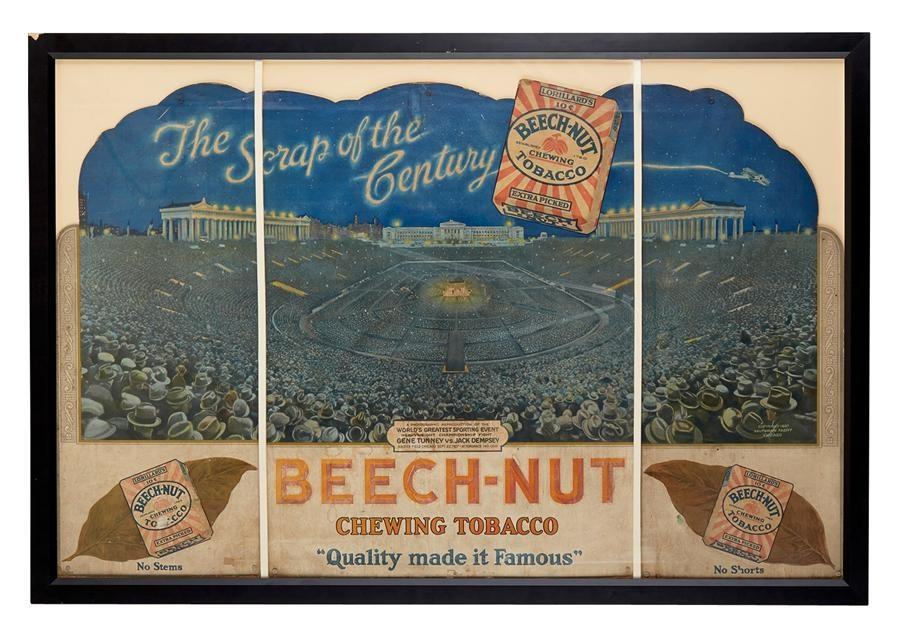 1927 Dempsey-Tunney Beech-Nut Tobacco Advertising Tri-Fold