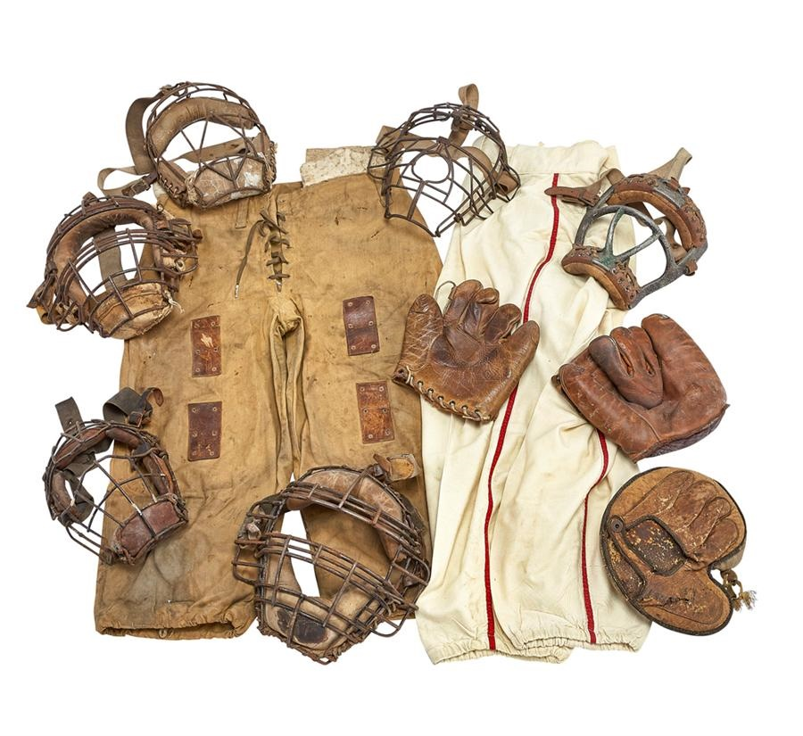 Baseball Equipment Collection Including Catchers Masks (20+)