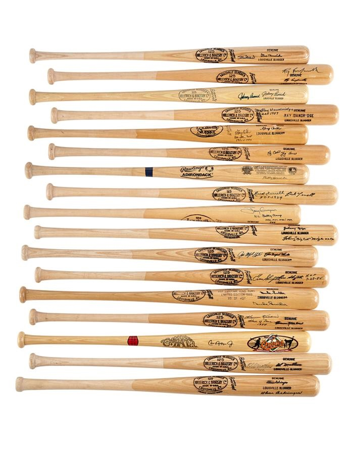 Large Collection of Hall of Famers Signed Bats (47)