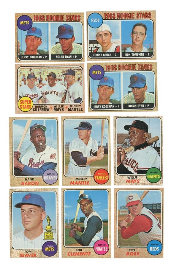 1968 Topps Baseball Card Set Extra Nolan Ryan Rookie 599