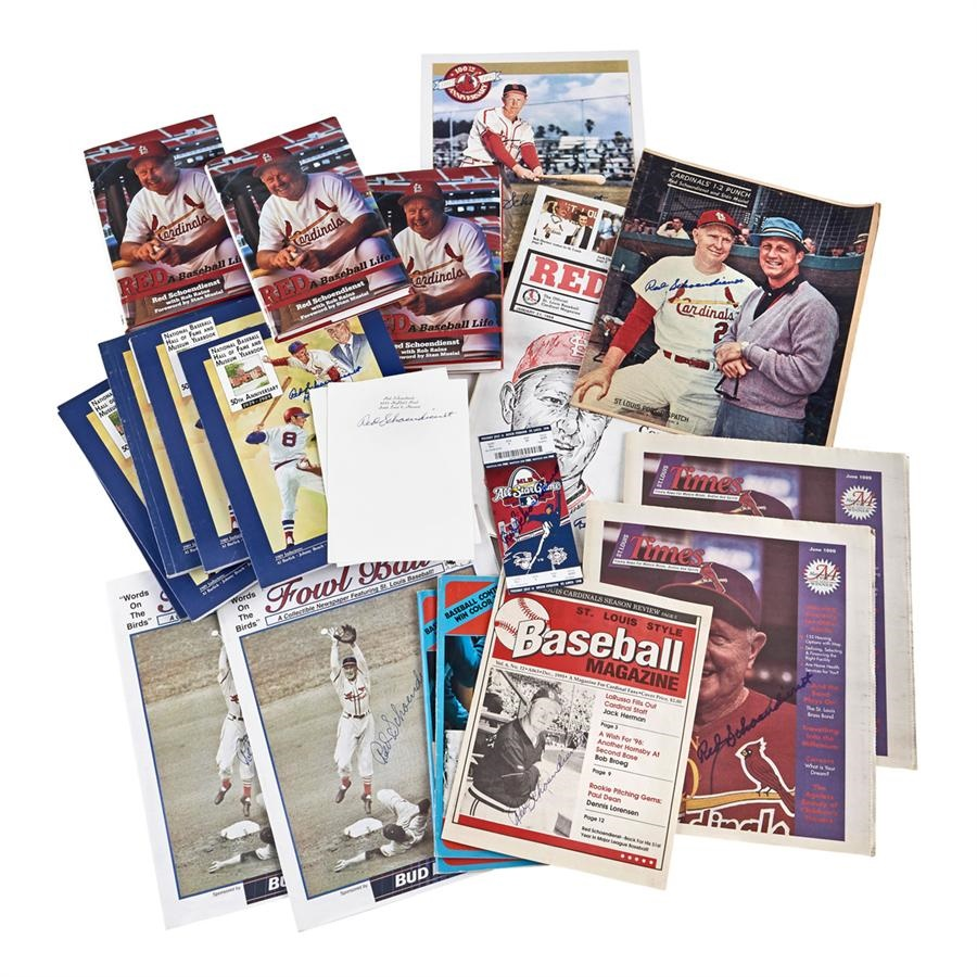 Red Schoendienst Baseballs & Autographs - Fall 2013 Catalog Auction