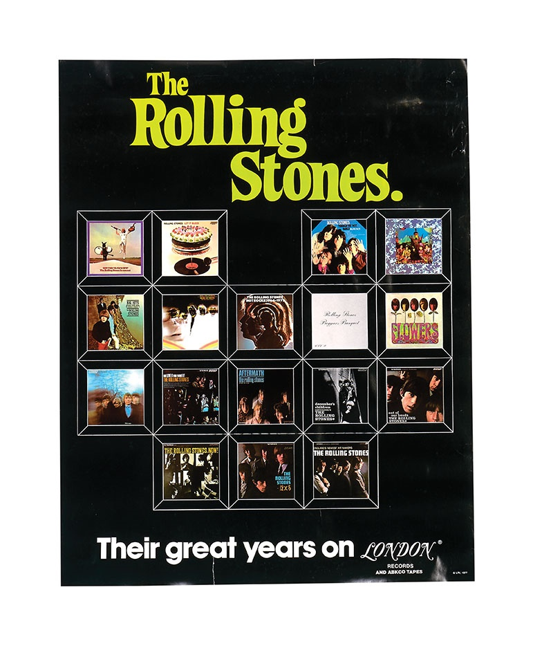 1970 The Rolling Stone Record Promo Poster