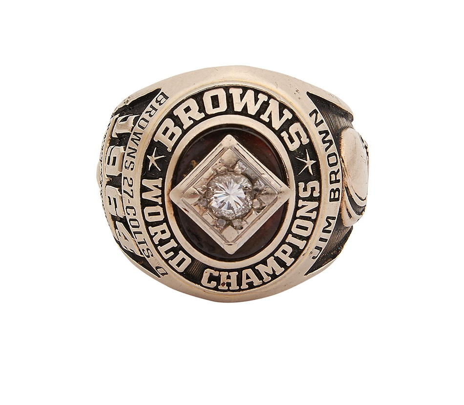 Jim Brown 1964 NFL Championship Ring - Spring 2014 Catalog Auction
