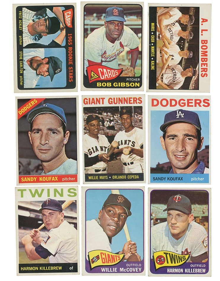 1964 1966 Topps Baseball Card Collection 1800