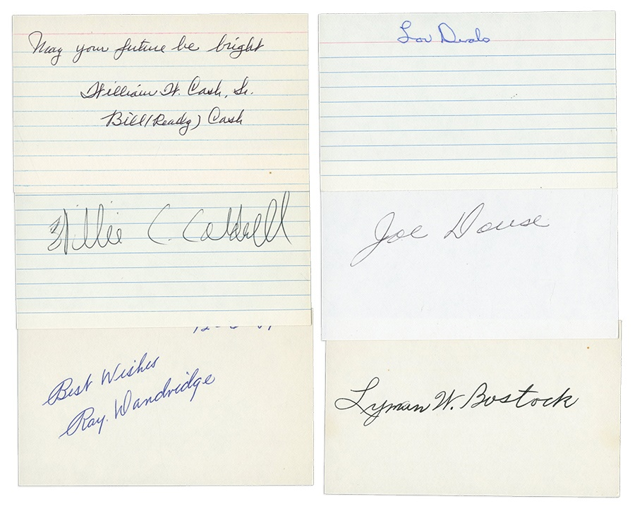 Collection of Negro Leaguers Signed Index Cards (45)