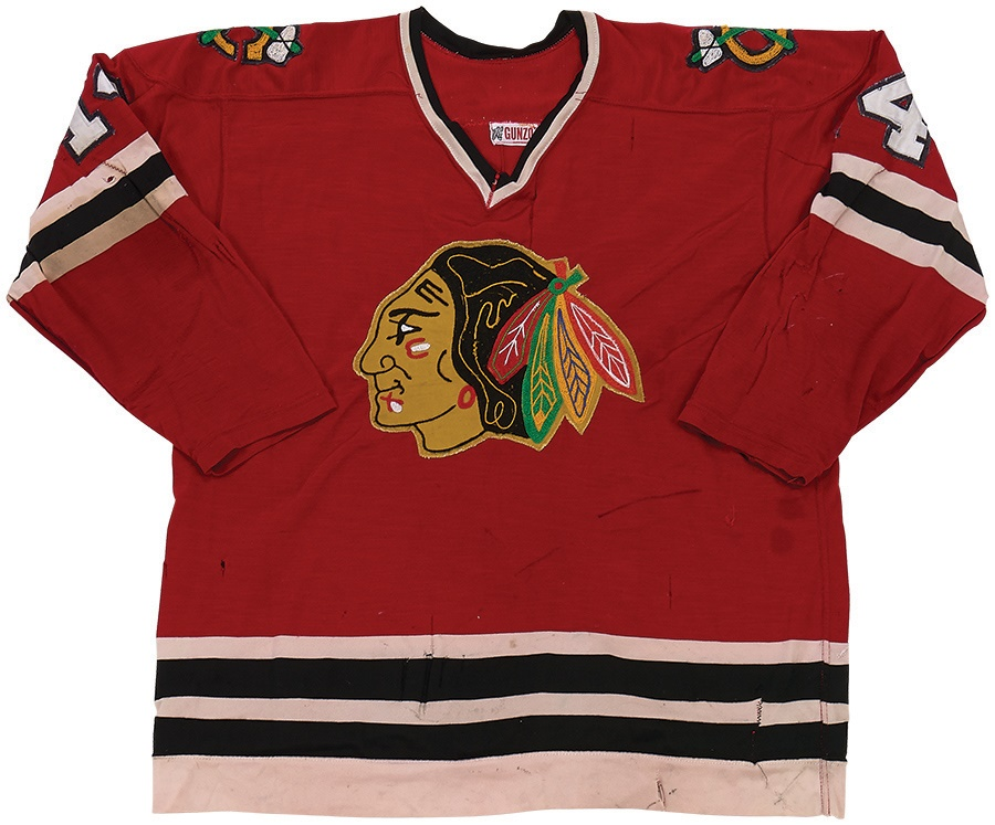 more photos fc16a 16a10 1978-79 Mike O'Connell Chicago Blackhawks Game Worn Jersey