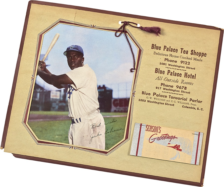 1953 Jackie Robinson Black-Owned Business Advertising Calendar
