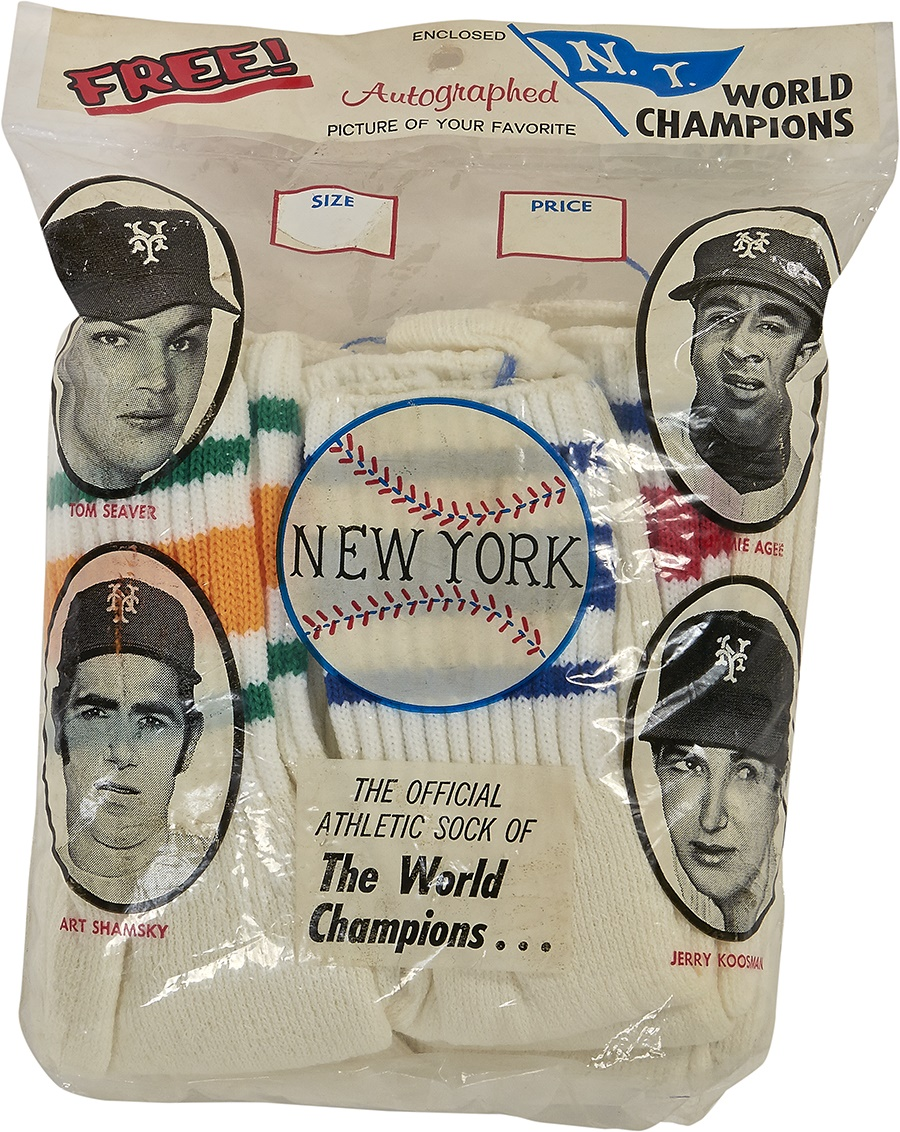 Unopened 1969 World Champion NY Mets Socks