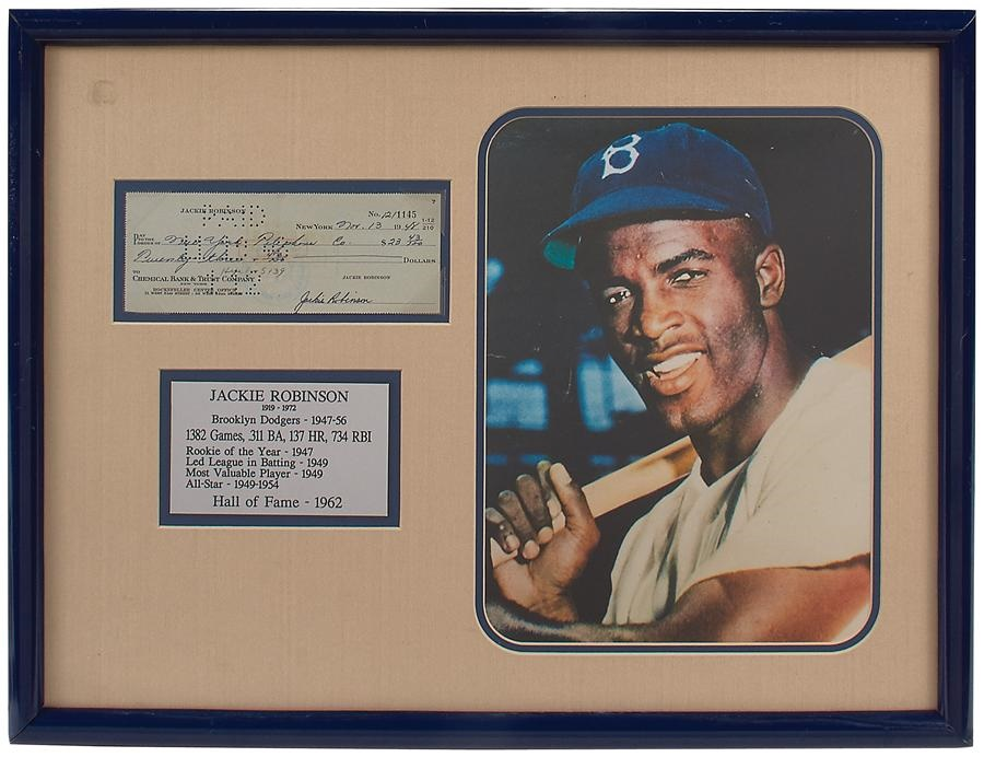 Jackie Robinson & Brooklyn Dodgers - Winter 2015 Catalog Auction