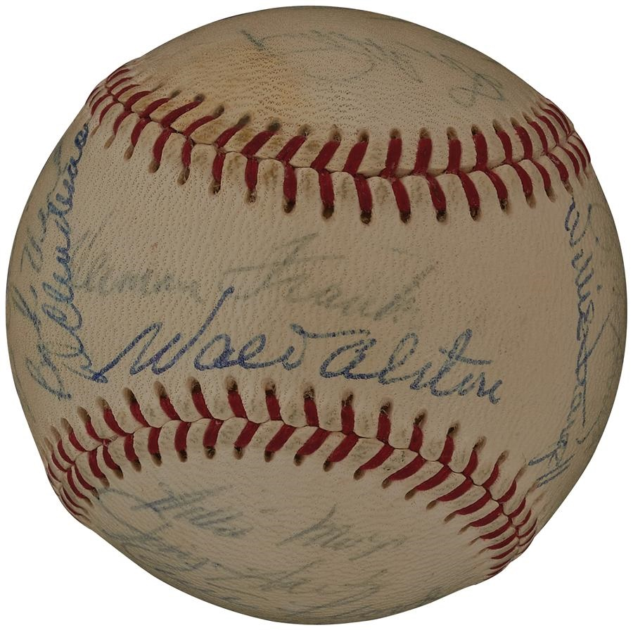 1966 National League All-Stars Team Signed Baseball