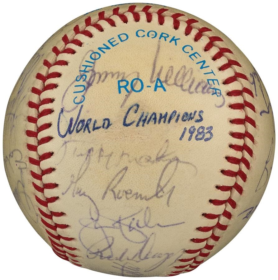 1983 Baltimore Orioles World Champions Team Signed Baseball