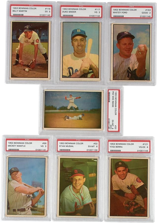 1953 Bowman Color Baseball Card Complete Set (160)