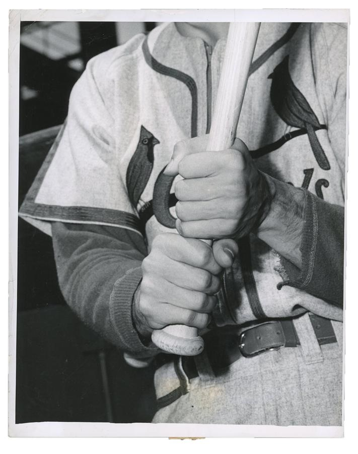 1950 Stan Musial Batting Grip Photograph