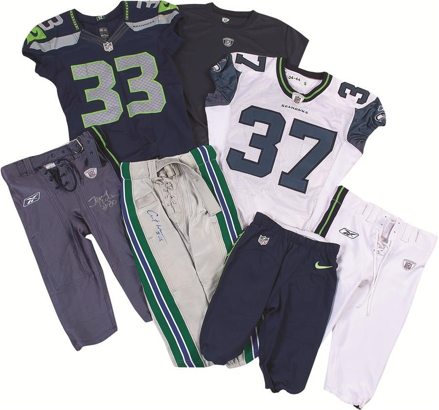 competitive price e877b 775b7 Important Seattle Seahawks Game Worn Jersey & Pants ...